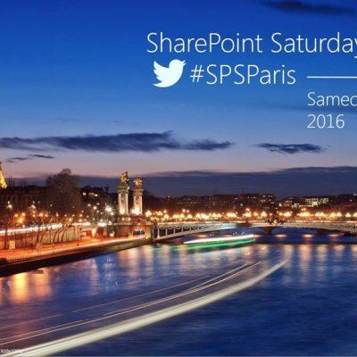 SPS Paris 2016 - SharePoint Saturday Paris